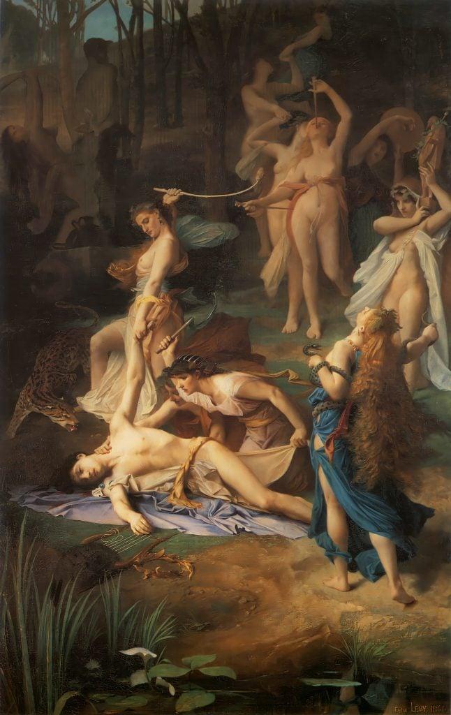 Dionysus Maenads: Death of Orpheus by Émile Lévy