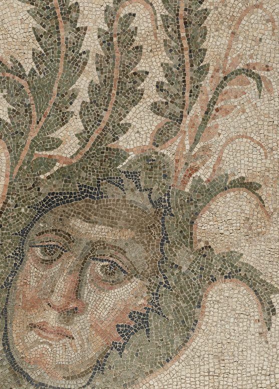 Detail from Mosaic Floor with Bear Hunt