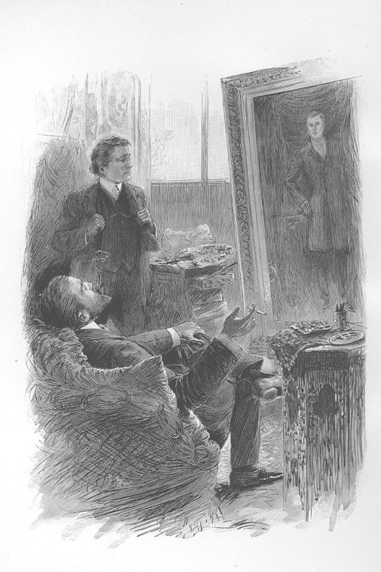 Dorian Gray drawing. Eugene Dété, illustration in The Picture of Dorian Gray by Oscar Wilde, 1890.