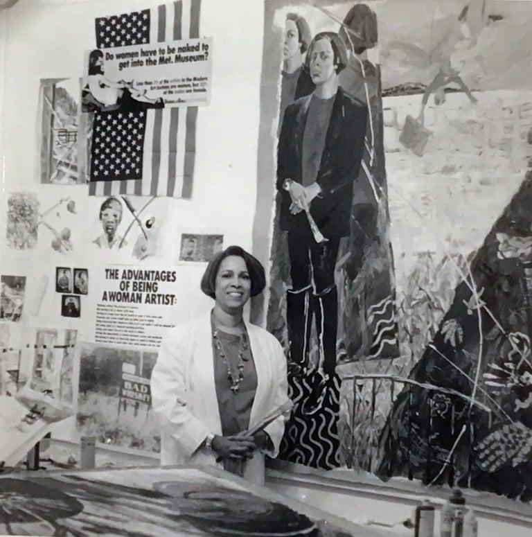 Emma Amos in her studio, ca. 1990s