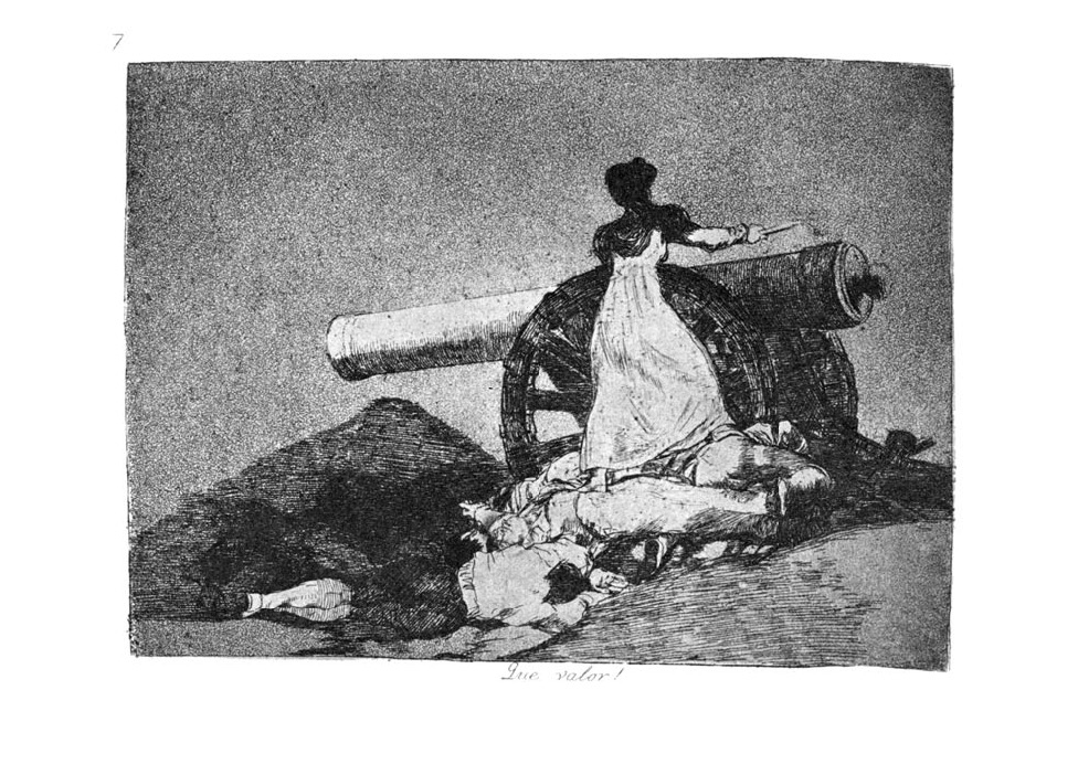 Francisco Goya, What Courage!, plate 7 from The Disasters of War, 1810s, The Metropolitan Museum of Art, New York, NY, USA.