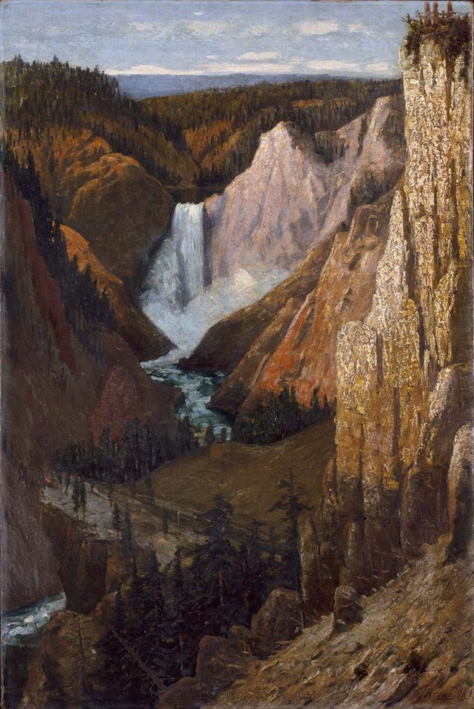 Grafton Tyler Brown, View of the Lower Falls, Grand Canyon of the Yellowstone. National Parks.