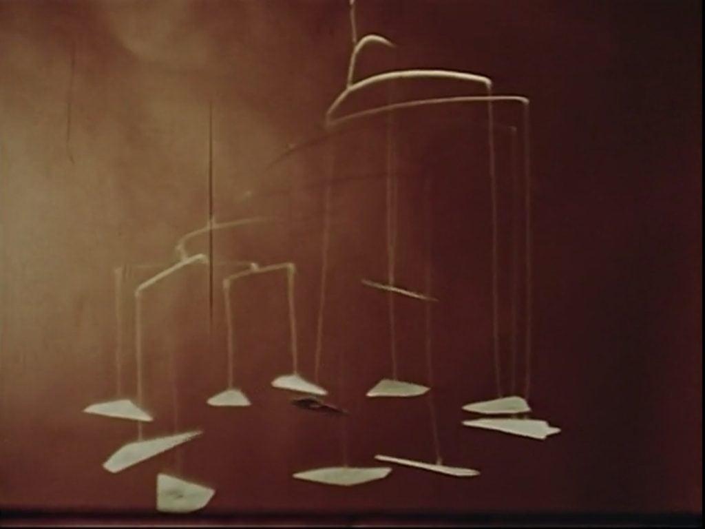 "Alexander Calder's mobile, ""Ballet"" scene from Dreams that money can buy movie, 1947."
