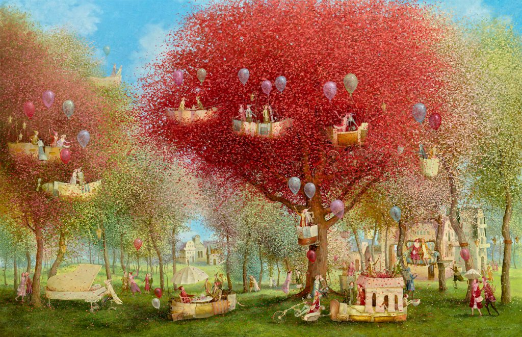 Flying Objects in Art: The Garden of Love by Remigijus Januskevicius