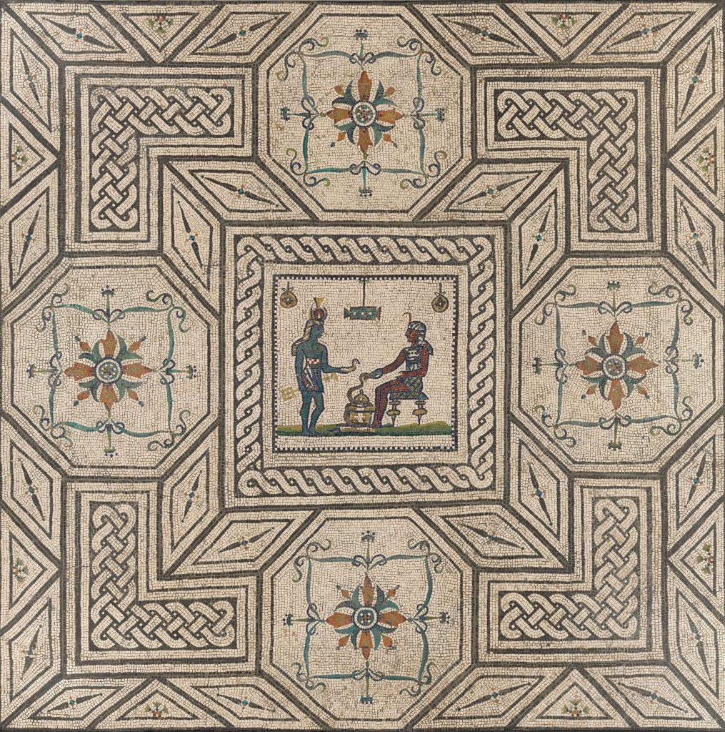 Mosaic floor with Egyptianizing Scene,