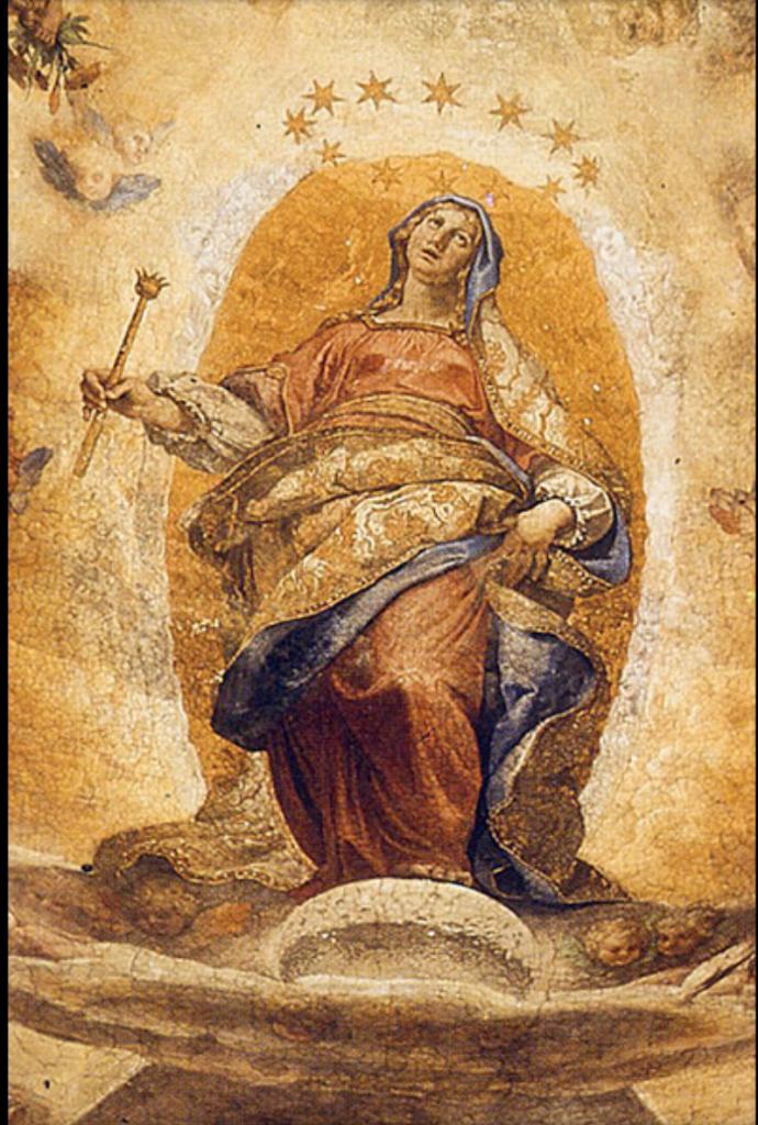 Galileo and the Moon in Art: Ludovico Cigoli, Assumption of the Virgin, Capella Paolina, SM Maggiore, Rome, Italy.
