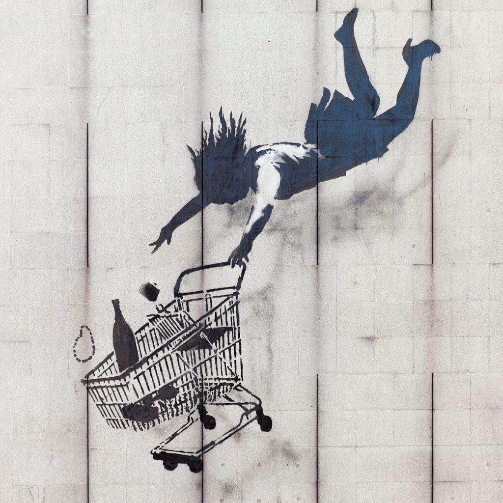 Banksy city guide 2021: Banksy, Shop until you drop, 2011