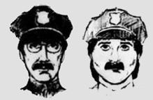 Sketches for possible suspects for the theft.  biggest art theft