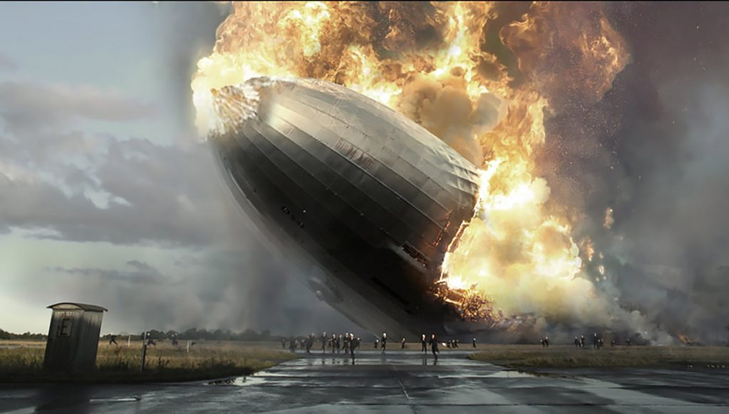 Flying Objects in Art: The Hindenburg Burning by Sven Sauer