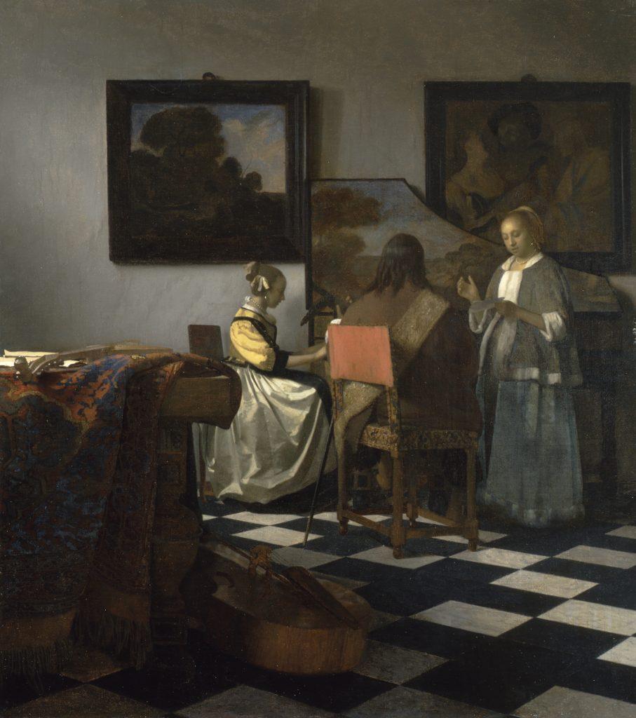 biggest art theft Johannes Vermeer, The Concert, 1633–1666, oil on canvas, unknown location. Isabella Stewart Gardner Museum.