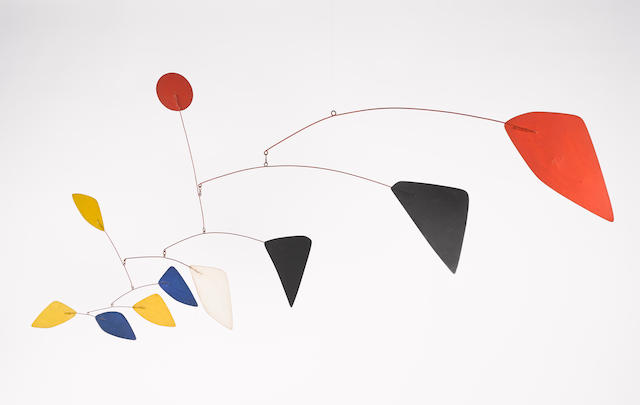 "Alexander Calder's mobile called ""Maripose"", New York, 1960. Source: Bonhams."