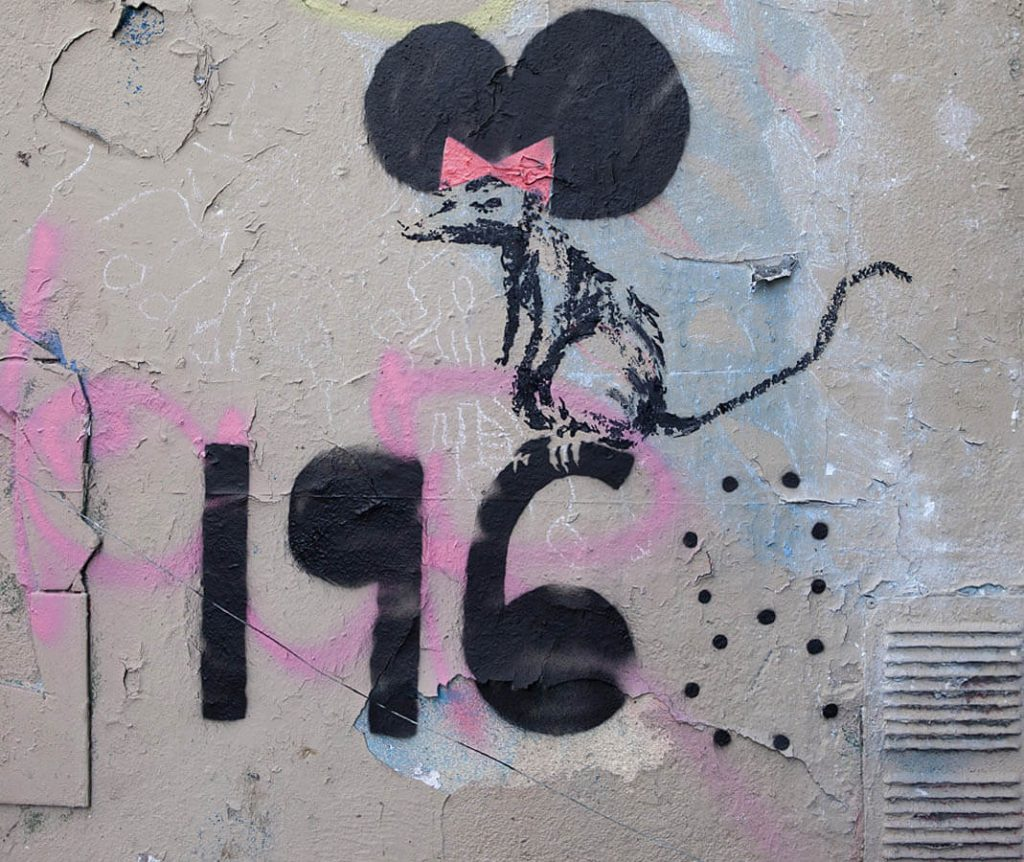 Banksy city guide 2021: Banksy, Minnie Mouse, 2018