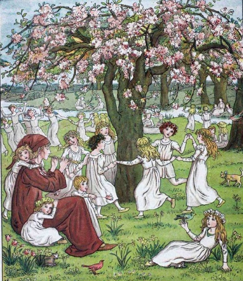 Kate Greenaway, illustration for Robert Browning's The Pied Piper of Hamelin,