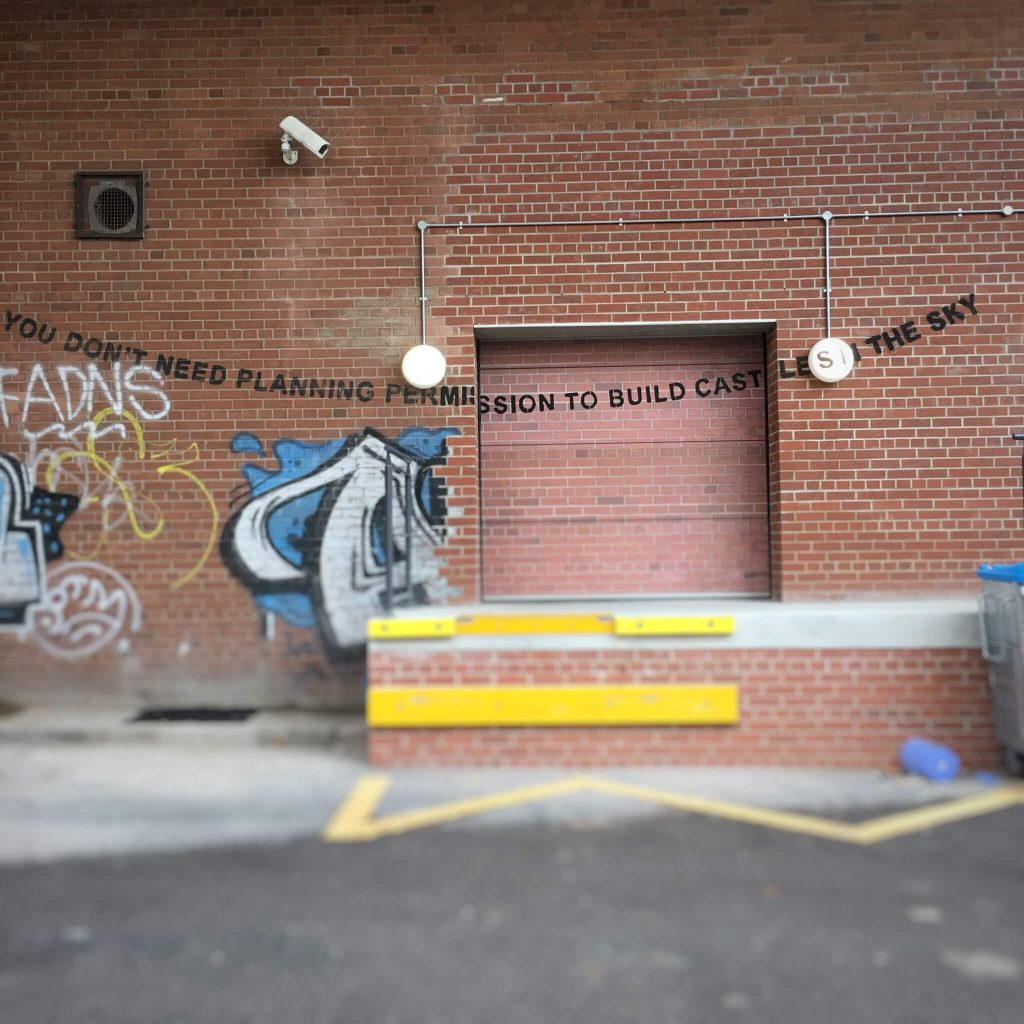 Banksy city guide 2021: Banksy, You don't need planning permissions to build castles in the sky, between 2008 and 2012
