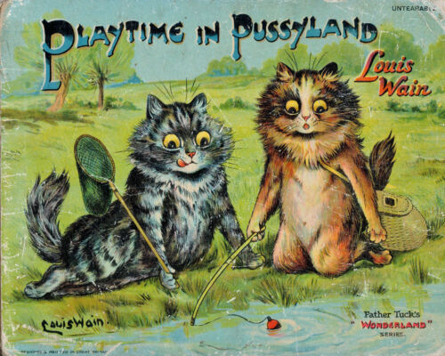 Louis Wain, illustration cover for Playtime in Pussyland
