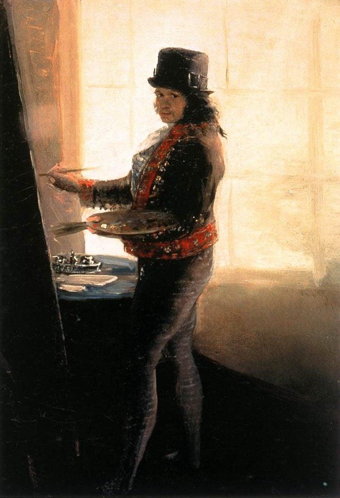 Francisco Goya, Self-Portrait in the Studio, c. 1790-1795, Real Academia de Bellas Artes de San Fernando, Madrid, Spain.