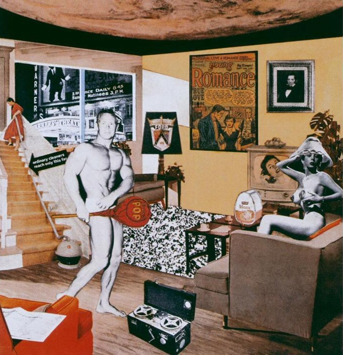 Richard Hamilton, Just what is it that makes today's homes so different, so appealing?, 1956, collage, Tate Modern, London, UK.