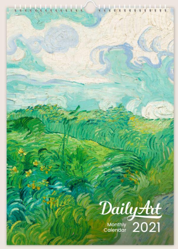 12 Months Masterpieces DailyArt A3 Wall Calendar 2021