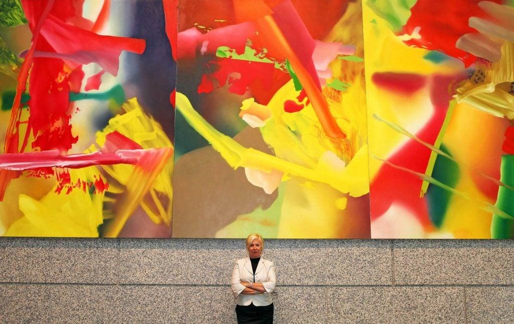 Gerhard Richter, Abstract Painting (Faust), Deutsche Bank Art Collection.