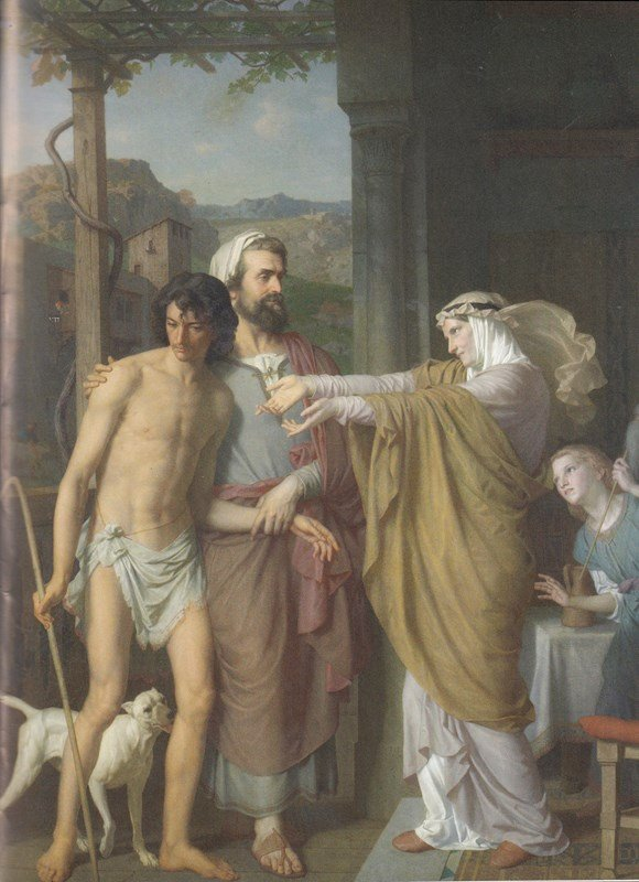 The Return of the Prodigal Son, Charles Gleyre, The Father presents the returned prodigal to his mother, who receives him with open arms