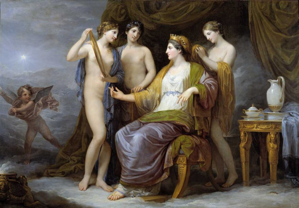 Badass Women of Greek Mythology: Andrea Appiani, Juno Dressed by the Graces, 1811, Civic Museum of Brescia, Brescia, Italy. Wikimedia Commons.