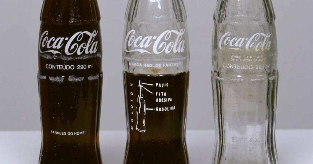 Protest art: Cildo Meireles, Insertions into Ideological Circuits: Coca-Cola Project, 1970, Tate, London, England, UK.