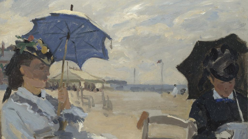Claude Monet, The Beach at Trouville, 1870, National Gallery, London, England, UK