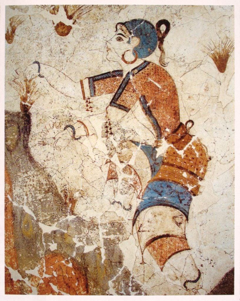 The Saffron Gatherers, detail.