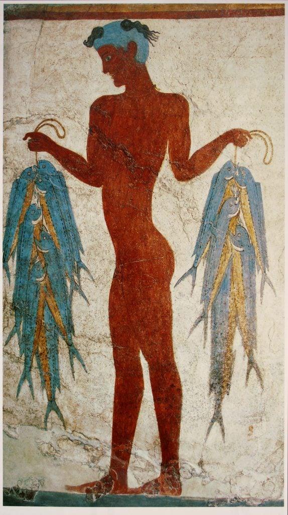 Fisherman, circa 1600 B.C., Prehistoric Thera Museum.