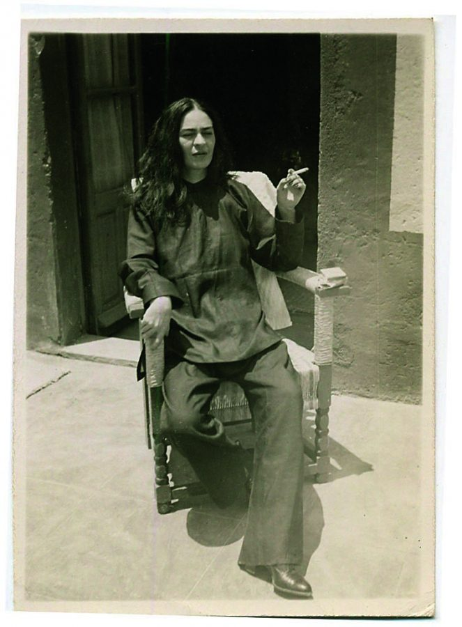 Frida Kahlo right after surgery in 1946, Coyoacan