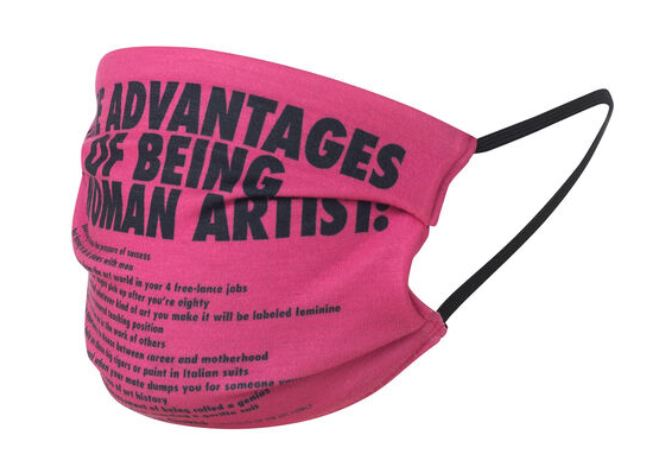 Best 2020 Christmas Gifts from Art Museums: Guerilla Girls, The Advantages of Being a Woman Artist, face covering, Tate Modern, London