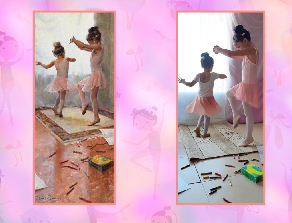 Homemade Masterpieces: art inspiring creativity in our homes.  Innocence by Evgenia, Janna and Angela, after Anna Bain
