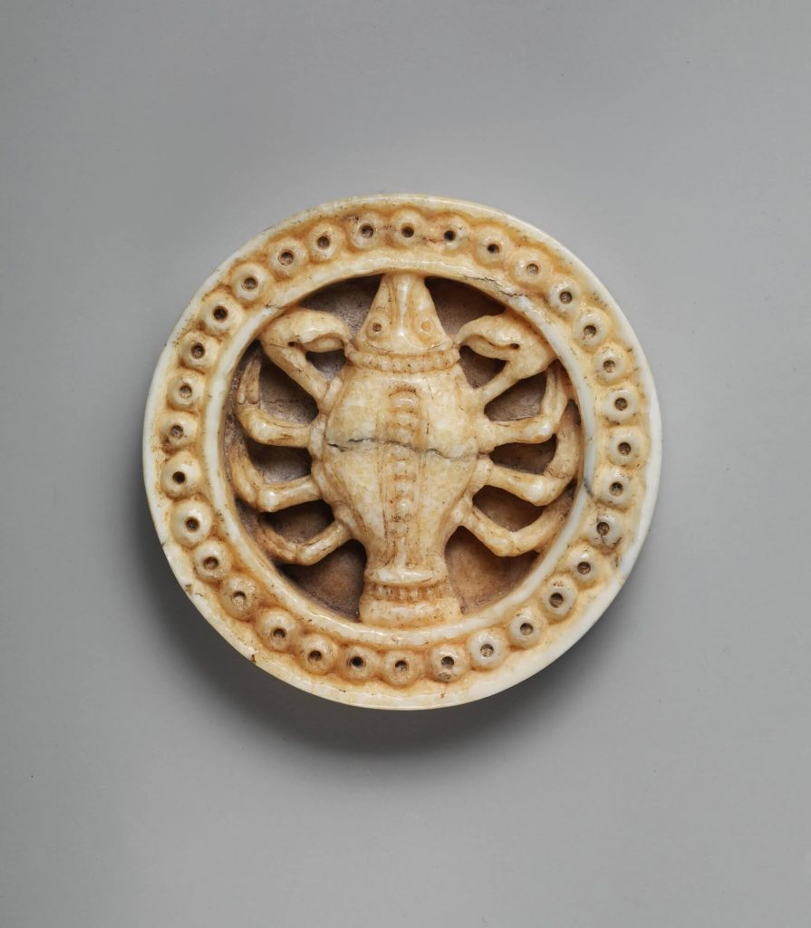 Medieval Zodiac Game Token. Game Piece with Zodiac Sign of Cancer or Scorpio