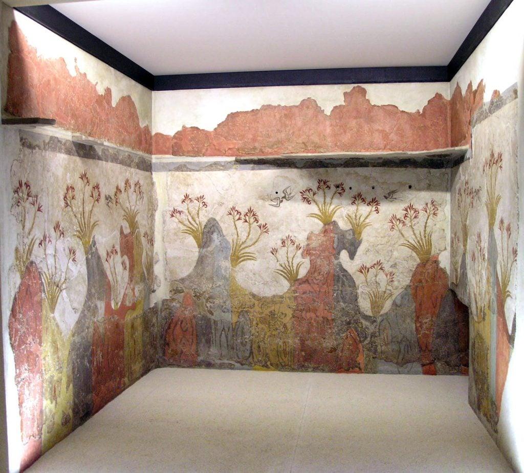 Spring Fresco, circa 1600 B.C., National Archeological Museum, Athens, Greece