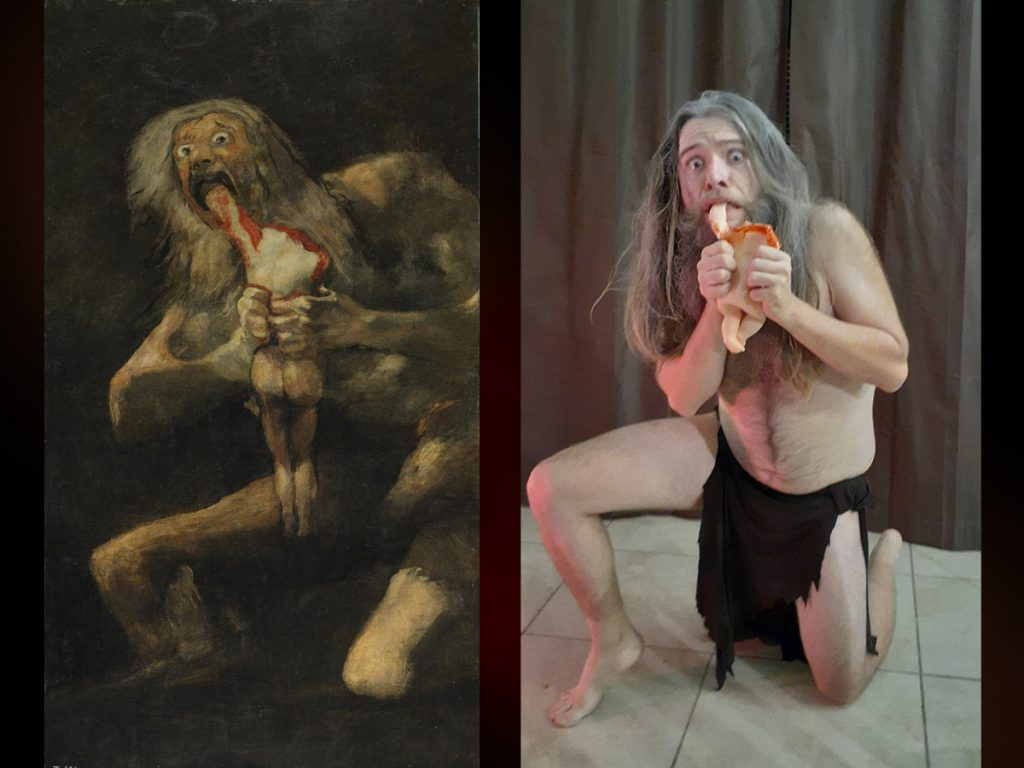 Saturn Devouring his Son by Michael Nuccio, after Goya