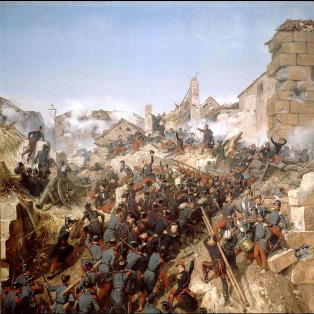 Return of Algerian Skulls: Horace Vernet, Prise de la Ville, 1838, Grande Palais, Paris, France.