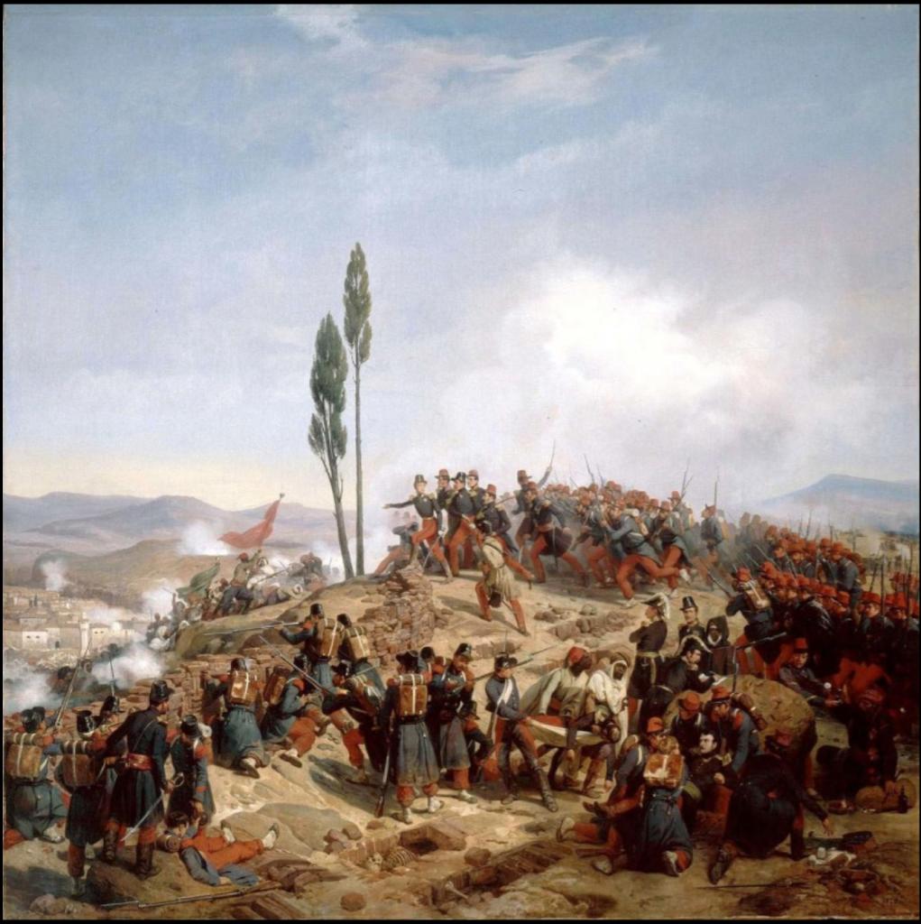 Return of Algerian Skulls: Horace Vernet, L'Ennemi Repoussé des Hauteres de Coudiat-Ati. 10 Octobre 1837, 1837, Grande Palais, Paris, France.