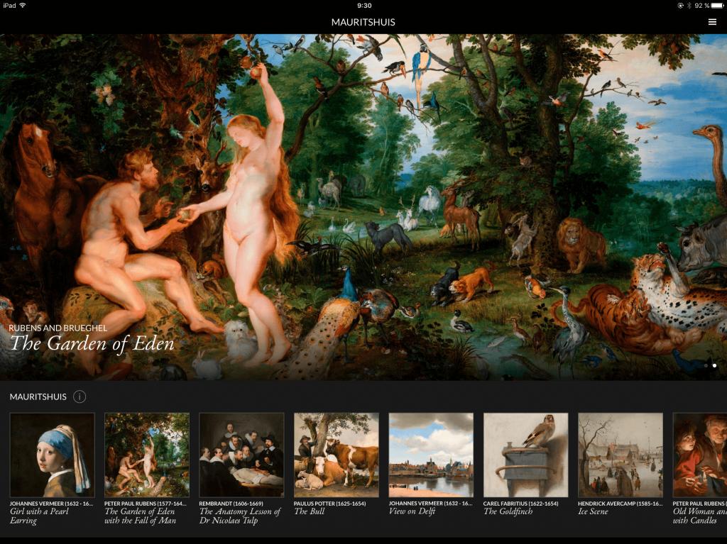 Second Canvas Menu Virtual Mauritshuis