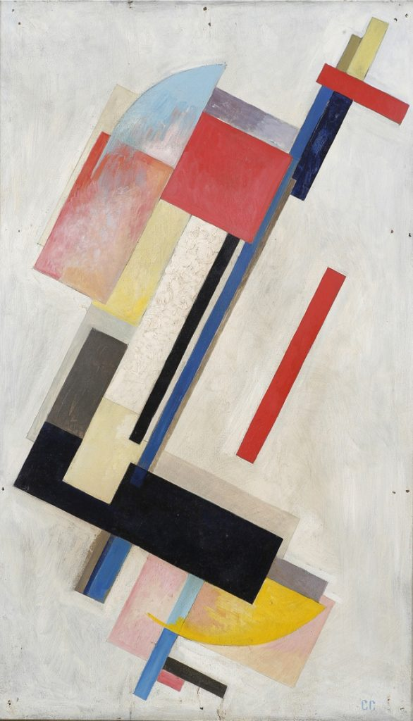 Masterpieces to boost good Feng-shui: Sergei Yakovlevich Senkin, Non Objective Composition, 1921, Russia