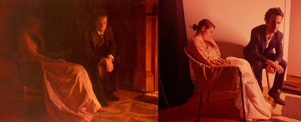 Homemade Masterpieces: art inspiring creativity in our homes. The Confession by Stern and Seltzer, after John Collier