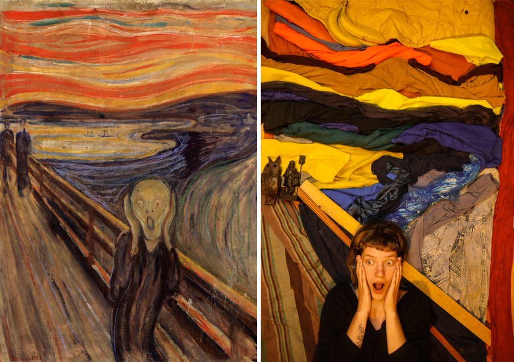 Homemade Masterpieces: art inspiring creativity in our homes. The Scream by Lies Geven, after Edvard Munch