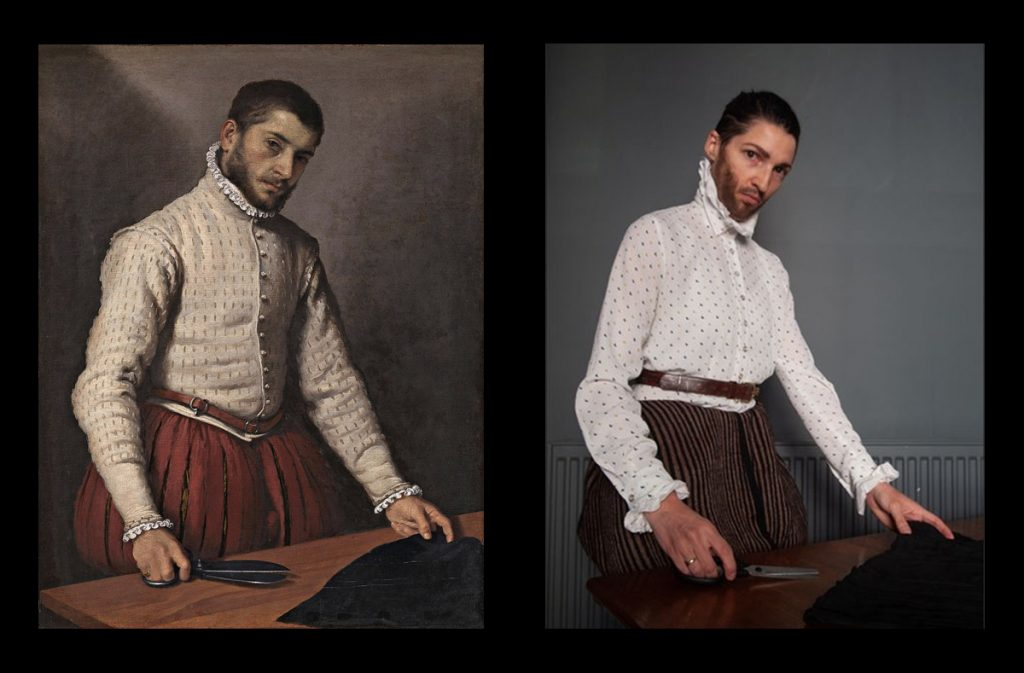 Homemade Masterpieces: art inspiring creativity in our homes. The Tailor by Laura Hordern, after Moroni
