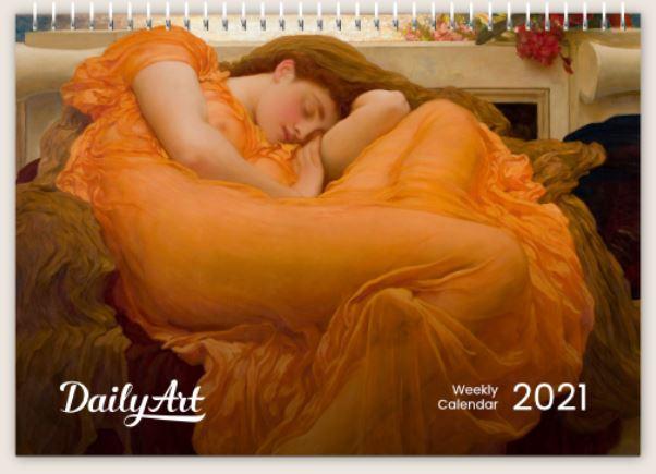 Weekly DailyArt A5 Desk Calendar 2021