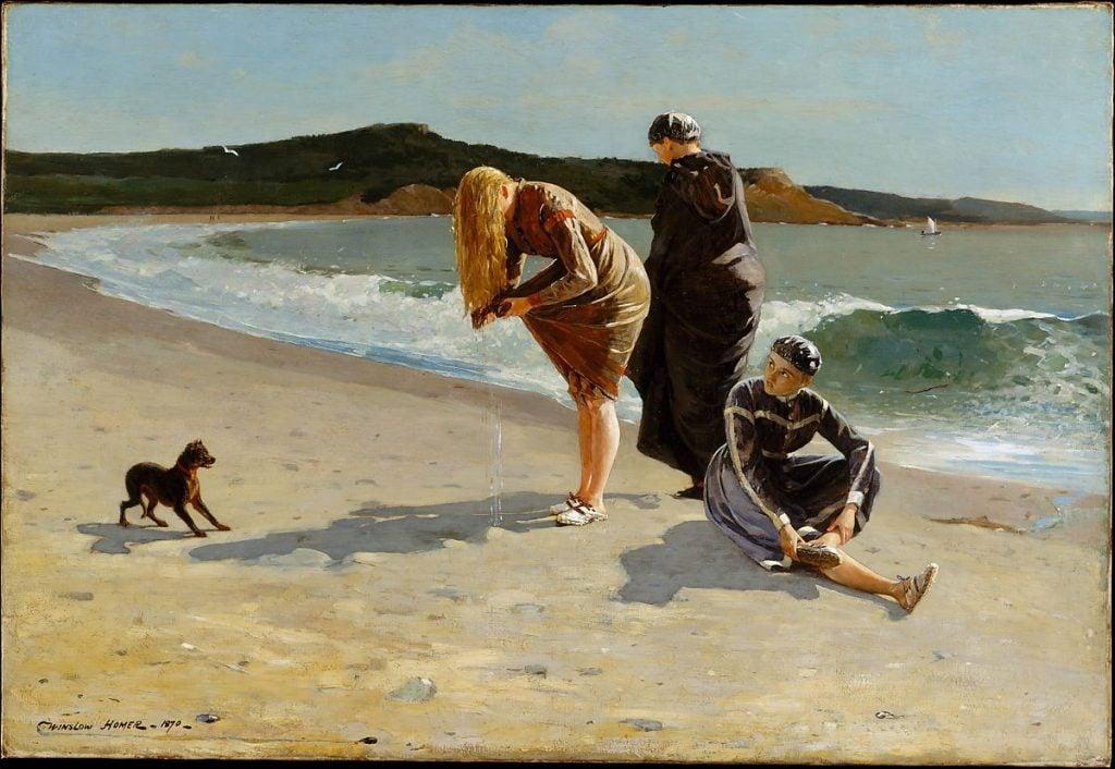 Ten Beaches in Art: Winslow Homer, Eagle Head, Manchester, Massachusetts (High Tide), 1870, Metropolitan Museum of Art, New York, USA