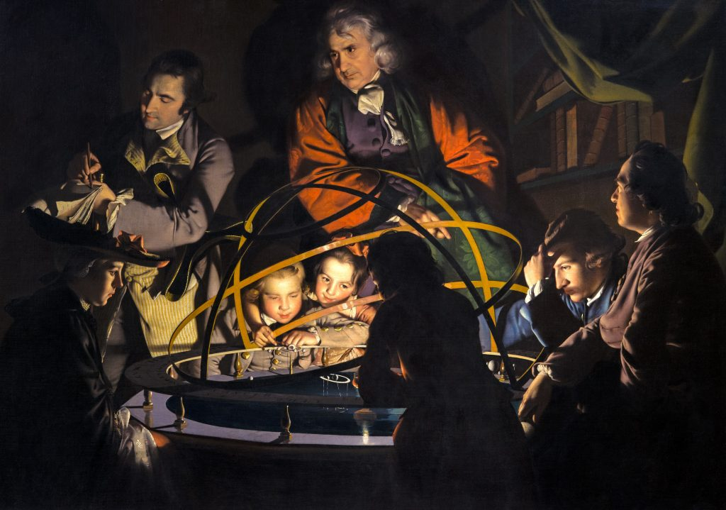 Joseph Wright of Derby, A Philosopher Giving a Lecture at the Orrery, 1766, Derby Museum and Art Gallery, Derby, England, U.K.