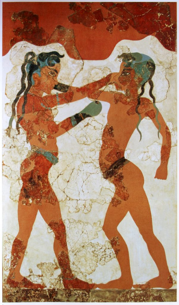 The Boxing Children, circa 1600 B.C., National Archeological Museum, Athens, Greece