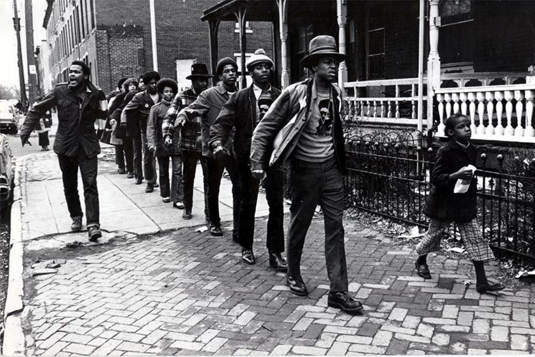 Stephen Shames, Members of the Black Panther Party for Self Defense marching through West Philadelphia
