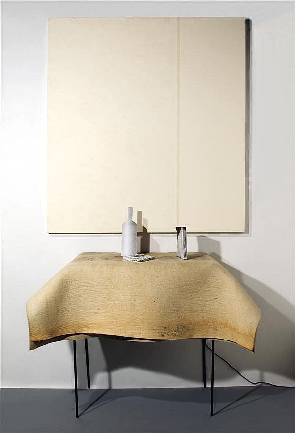 Arte Povera: Pier Paolo Calzolari, Natura Morta (Still Life), 2005, Studio la città, Verona, Italy.