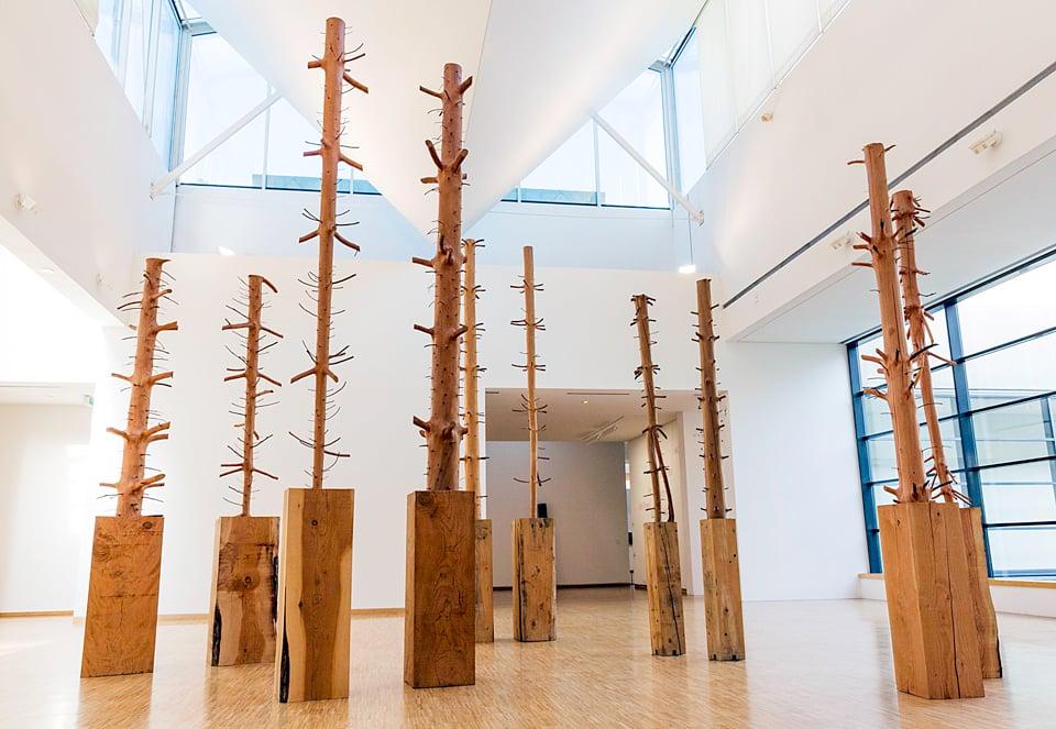 Arte Povera movement: Giuseppe Penone, Ripetere il bosco (Repeating the forest), 1980, Musée Des Beaux Arts, Grenoble.