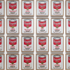 Andy Warhol, Campbell's Soup Cans, 1962, acrylic with metallic enamel paint on canvas, Museum of Modern Art, New York, USA.